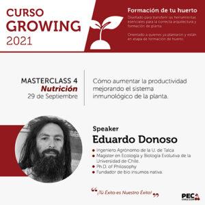 PEC E-Learning GROWING 2021: Masterclass 4 - Nutrición