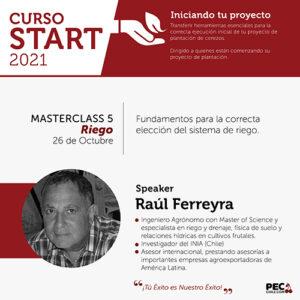 PEC E-Learning START 2021: Masterclass 5 - Riego